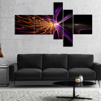 Designart Fractal 3D Colored Bulgy Circles Multipanel Abstract Canvas Artwork Print - 5 Panels