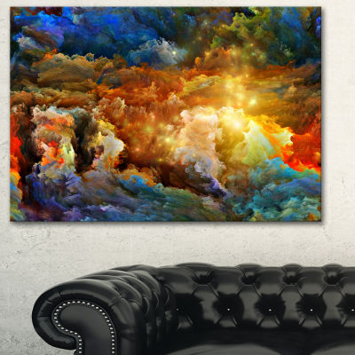 Designart What Colors May Come Abstract Canvas Artwork - 3 Panels