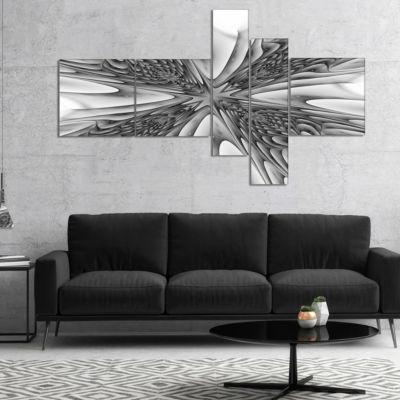 Designart Fractal 3D Magical Depth Multipanel Abstract Canvas Art Print - 4 Panels