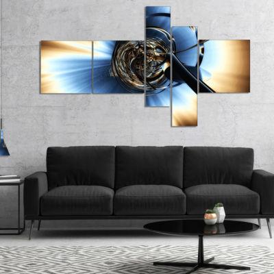 Designart Fractal 3D Tangled Knot Multipanel Abstract Canvas Art Print - 5 Panels
