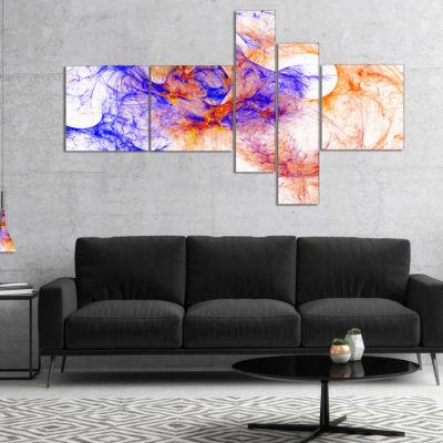 Designart Wings Of Angels Blue Multipanel AbstractCanvaS Art Print - 4 Panels