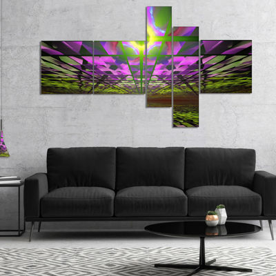 Designart Fractal Cosmic Apocalypse Multipanel Abstract Art On Canvas - 4 Panels