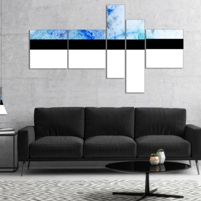 Designart World Bubbles Fractal Pattern MultipanelAbstract Wall Art Canvas - 4 Panels