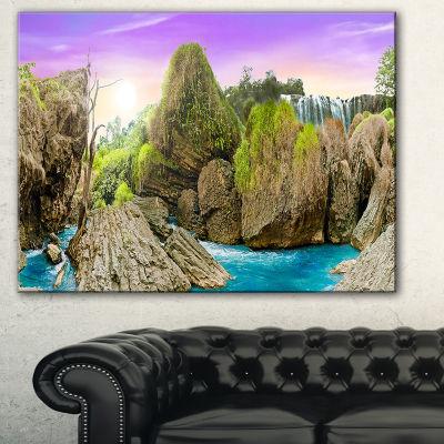 Designart Wild Forest And Waterfall Vietnam Landscape Art Print Canvas