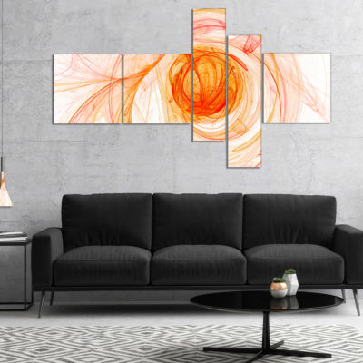 Designart Yellow Ball Of Yarn Multipanel AbstractCanvaS Art Print - 5 Panels