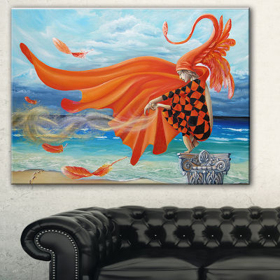 Designart Wind Blows All Abstract Canvas Art Print