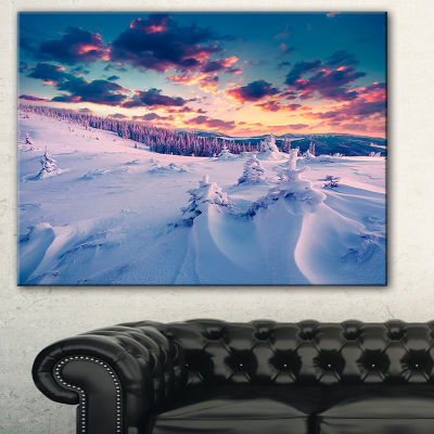 Designart Winter In Carpathian Mountains LanscapePhotography Canvas Print