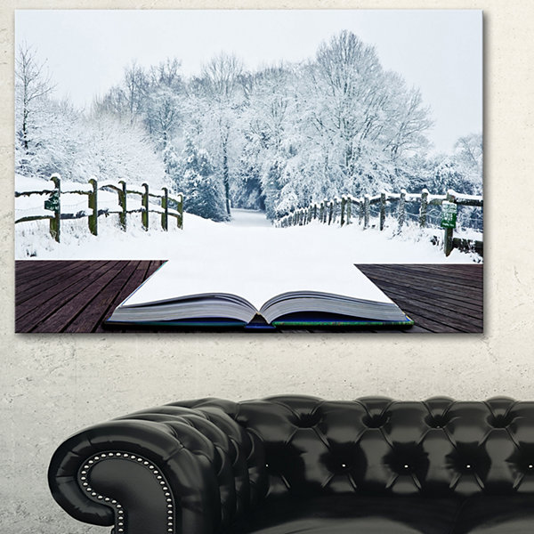Designart Winter Wonderland Landscape Canvas Art Print - 3 Panels