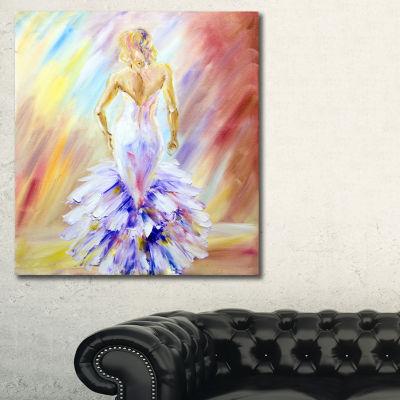 Designart Woman At The Ball Portrait Canvas Art Print