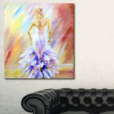 Designart Woman At The Ball Portrait Canvas Art Print - 3 Panels