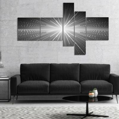 Designart Glowing Star In Cosmic Galaxy MultipanelAbstract Wall Art Canvas - 5 Panels