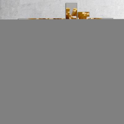 Designart Golden Fragments 3D Design Multipanel Abstract Canvas Wall Art - 4 Panels
