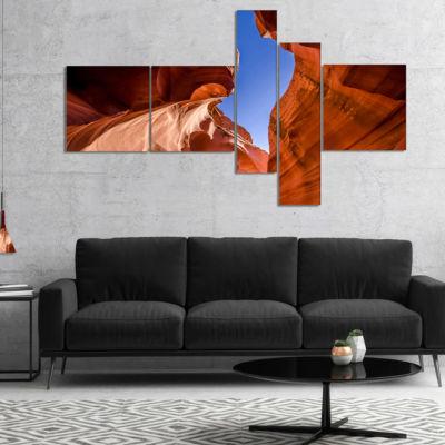 Designart Grand Antelope Canyon Multipanel Landscape Photography Canvas Print - 4 Panels