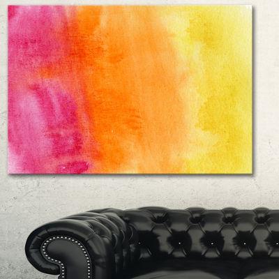 Designart Yellow Purple Meet Orange Abstract Canvas Art Print - 3 Panels