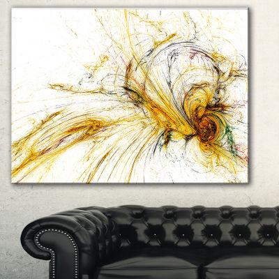 Designart Yellow Spiral Galaxy Abstract Canvas ArtPrint