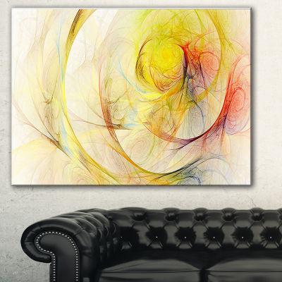 Designart Yellow Storm Sky Abstract Canvas Art Print - 3 Panels