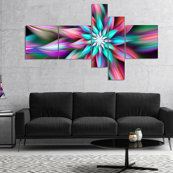 Designart Dance Of Multi Color Exotic Flower Multipanel Floral Canvas Art Print - 4 Panels
