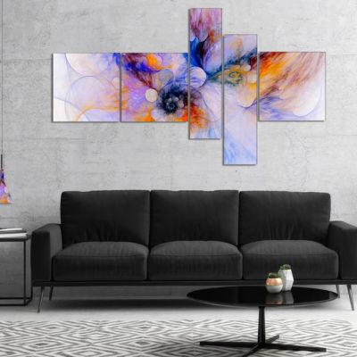 Designart Fractal Floral Art Multipanel Floral ArtCanvas Print - 4 Panels