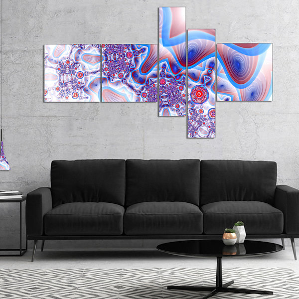 Designart Beautiful Extraterrestrial Life Cells Multipanel Floral Canvas Art Print - 4 Panels
