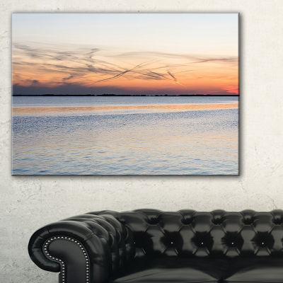 Designart River In Front Landscape Photography Canvas Art Print - 3 Panels