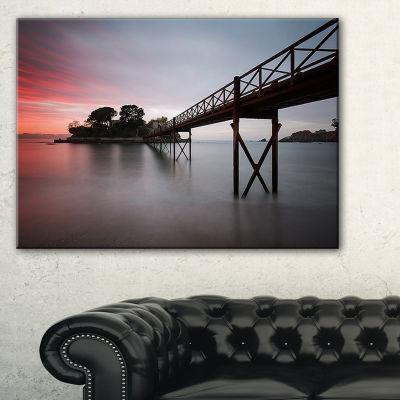 Designart Santa Cruz Island Spain Seashore PhotoCanvas Art Print - 3 Panels