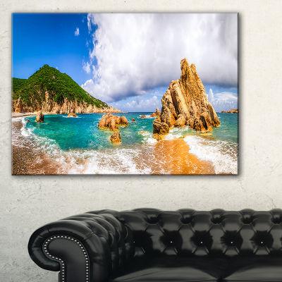 Designart Scenic Costa Paradiso Seashore Photo Canvas Art Print