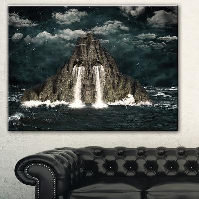 Designart Sea Of Tears Abstract Canvas Art Print-3Panels