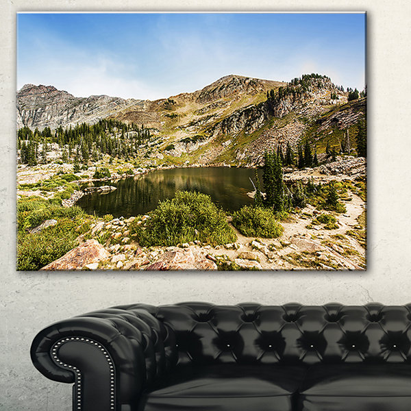 Designart Secret Lake At Albion Basin Landscape Photography Canvas Print
