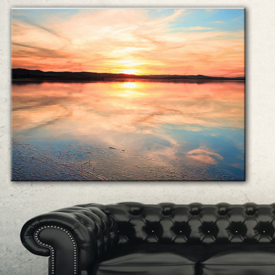 Designart Sensational Sunset In Australia SeascapeCanvas Art Print