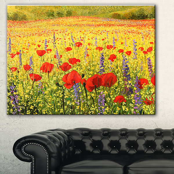 Designart Sea Of Blossom Landscape Canvas Art Print