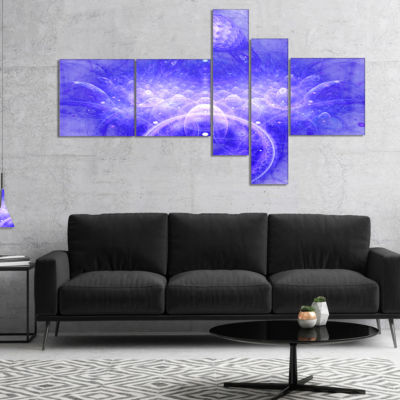 Designart Infinite Blue Boundaries Of World Multipanel Floral Canvas Art Print - 5 Panels