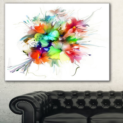 Designart Summer Flowers In Different Colors Floral Art Canvas Print