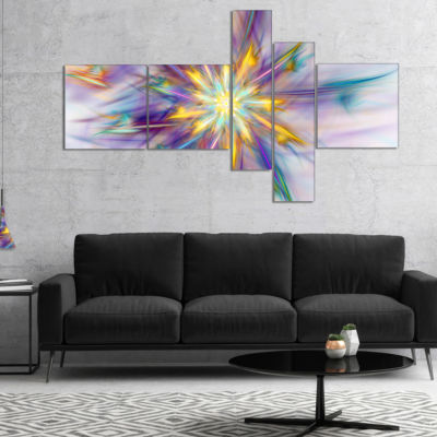 Designart Large Exotic Colorful Flower MultipanelFloral Canvas Art Print - 5 Panels
