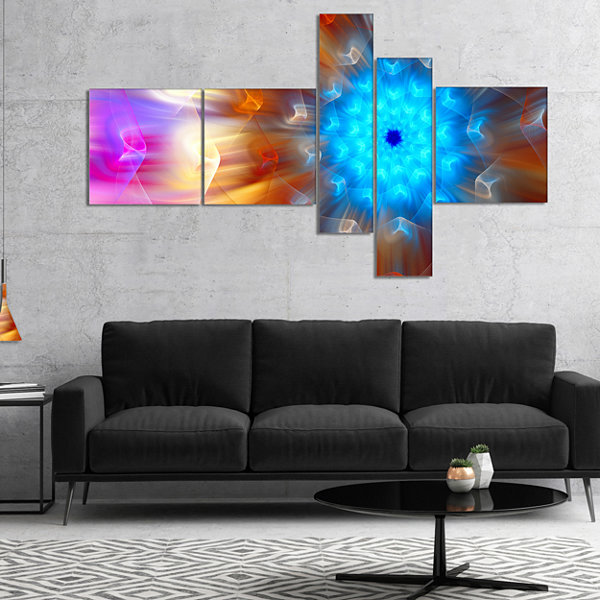 Designart Multi Color Exotic Flower Petals Multipanel Floral Canvas Art Print - 4 Panels