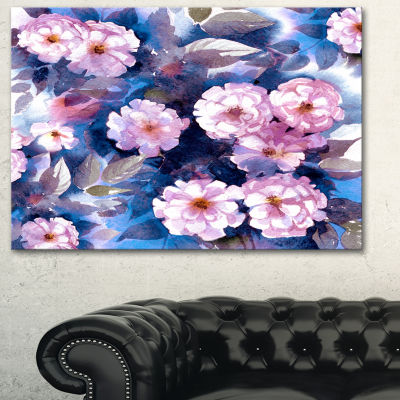 Designart White Briar In Classical Style Floral Art Canvas Print