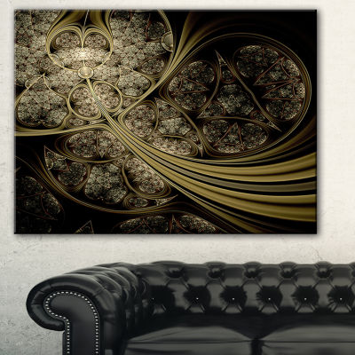 Designart White Metallic Fabric Pattern AbstractPrint On Canvas - 3 Panels