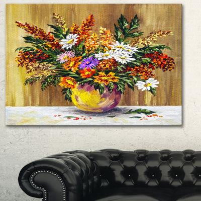 Designart Wild Flowers In A Pot Floral Art CanvasPrint