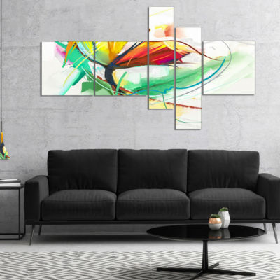 Designart Still Life Of Yellow Red Color Flower Multipanel Floral Canvas Art Print - 5 Panels