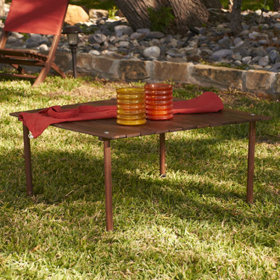 Southern Enterprises Picnic Table In A Bag Patio Console Table