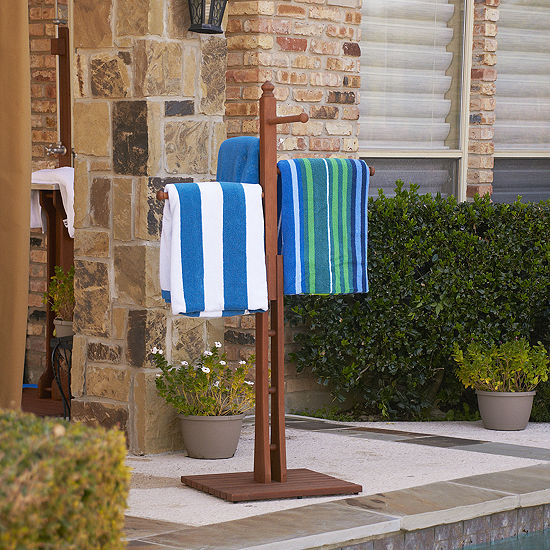 Daylight Outdoor Furniture Hardwood Towel Rack