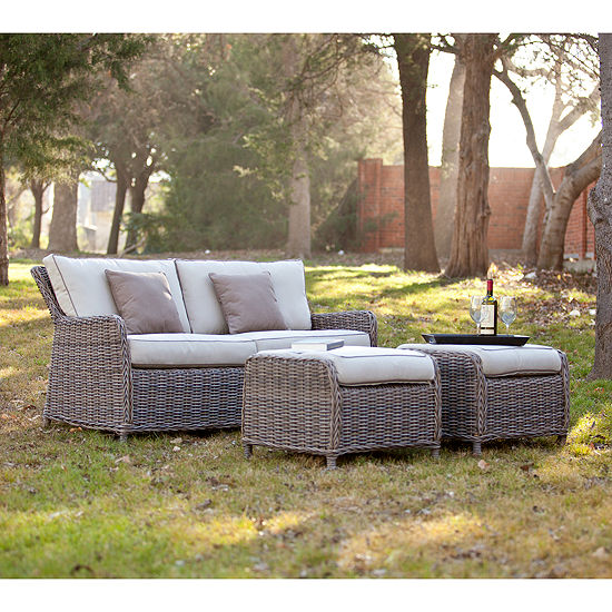 Daylight Outdoor Furniture 2.5 Seater Sofa and 3pc Ottoman