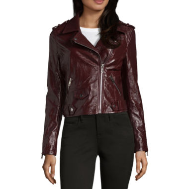 Vigoss Faux Leather Jacket-Juniors