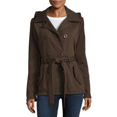 YMI Button Front Fleece Jacket-Juniors