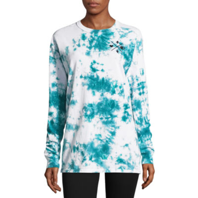 Flirtitude Long Sleeve Crew Neck Graphic T-Shirt