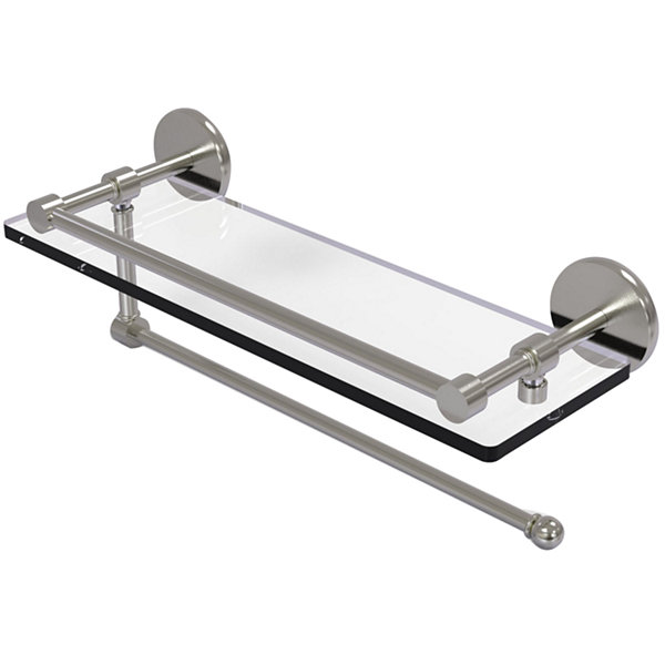 Allied Brass Prestige Skyline Collection Paper Towel Holder With 16 IN Gallery Glass Shelf