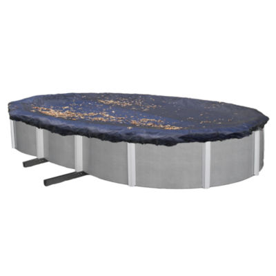 Oval Leaf Net Above Ground Pool Cover
