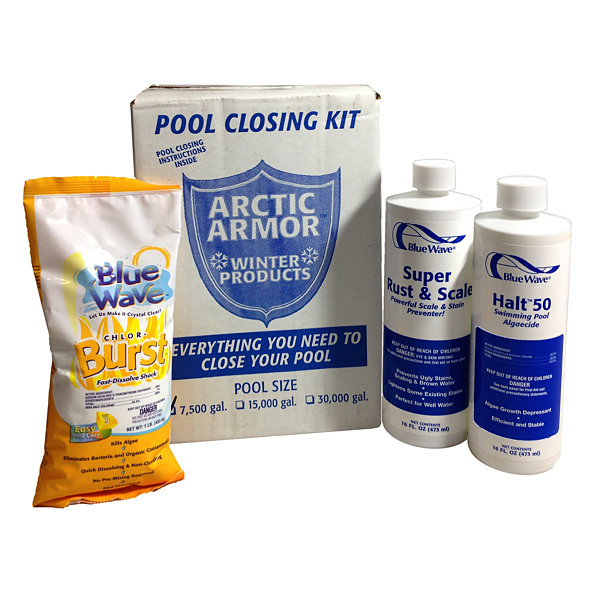 Chlorine Pool Winterizing Kit - Small to 7,500 Gallons