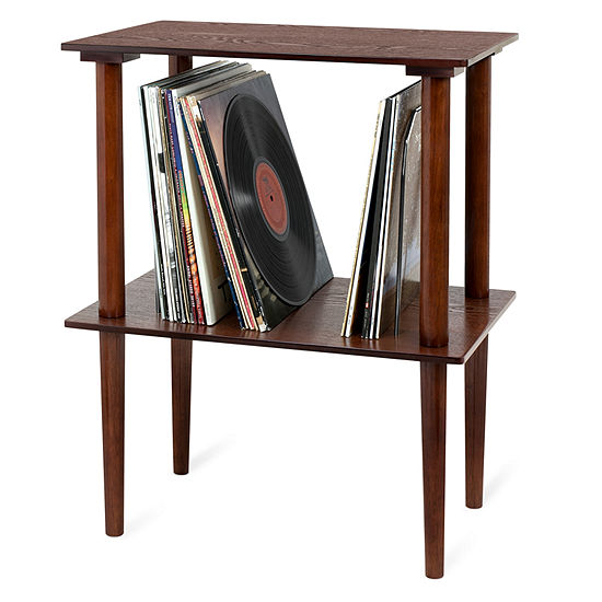 Victrola Wooden Stand with Record Holder