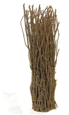 "14"" Rustic Natural Twig Frosted and Glittered Standing Christmas Tabletop Decoration"""