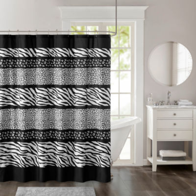 Madison Park Kenya Printed Microfiber Shower Curtain